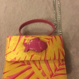 Yellow and pink 👛 hand bag